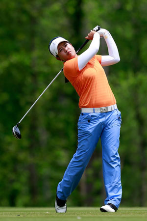 Thidapa Suwannapura holds on to lead at Women's Indian Open golf