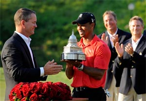 Tiger Woods wins National, passes Jack Nicklaus for second place