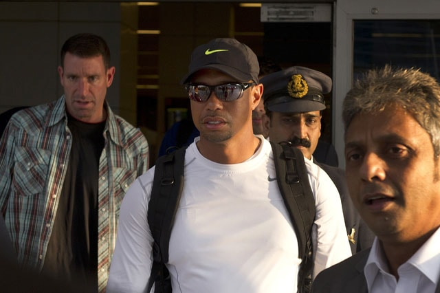 Tiger Woods arrives in India for exhibition round