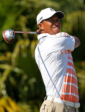 Tiger Woods maintains two-shot lead after third round at World Challenge