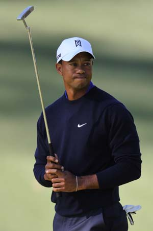 Tiger Woods' frustration boils over at Masters
