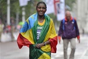 Ethiopia's Gelana wins women's marathon