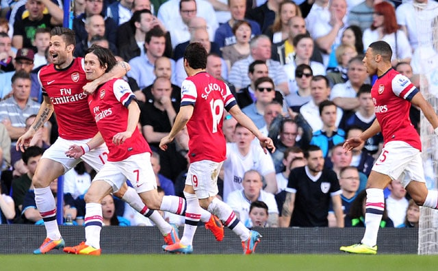 EPL: Tomas Rosicky sinks Tottenham Hotspur to boost Arsenal F.C. title bid
