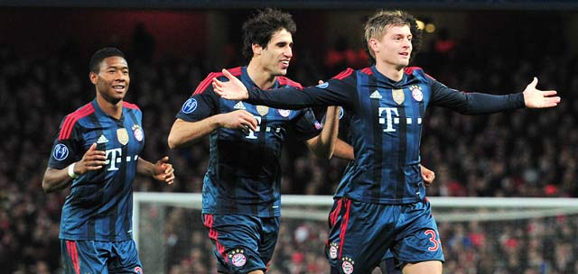 Champions League: Bayern Munich too good for Arsenal, win 2-0 at Emirates