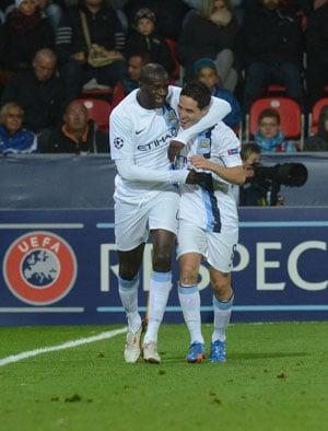 UEFA Champions League: Manchester City sweep aside Viktoria Pilsen in Group D opener