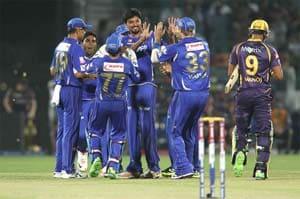 IPL 6: Rajasthan bowlers help hosts defeat Kolkata by 19 runs in Jaipur