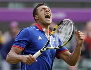 London 2012 Tennis: Jo-Wilfried Tsonga wins record-breaking clash with Milos Raonic