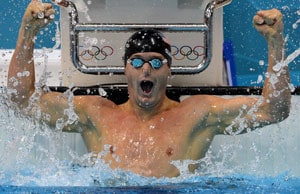 London 2012 Swimming: Tyler Clary wins 200m backstroke gold