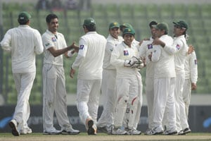 Pakistan prevail against Bangladesh on curtailed day
