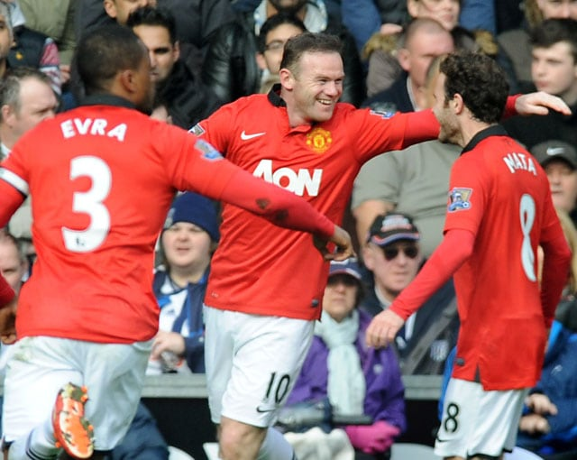 English Premier League: Manchester United F.C. beat West Bromwich Albion 3-0