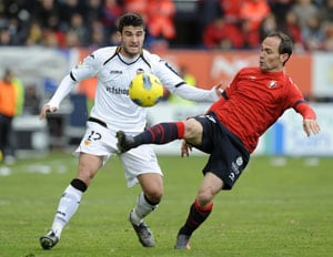 Valencia held to a draw by Osasuna