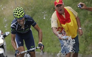 Alejandro Valverde wins 17th stage of Tour de France