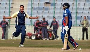 Shikhar Dhawan, Milind Kumar star as Delhi hand England XI another loss