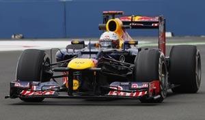 Sebastian Vettel fastest at European Grand Prix practice