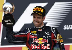 Vettel seals back-to-back world titles