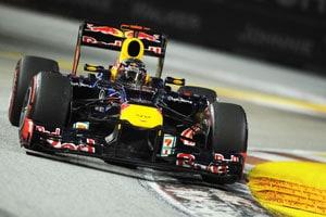 Singapore GP: Sebastian Vettel wins ahead of Jenson Button as Lewis Hamilton retires