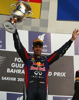 Sebastian Vettel soars clear as he takes Bahrain Grand Prix