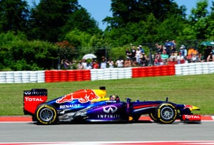 German Grand Prix: Sebastian Vettel wins home race, Kimi Raikkonen second