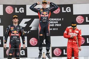Korean GP: Sebastian Vettel wins; topples Fernando Alonso at the top