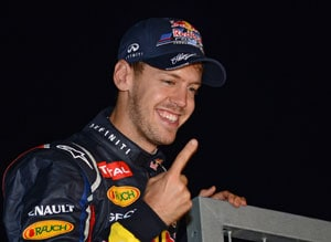 'Careful' Sebastian Vettel shuns hat-trick talk