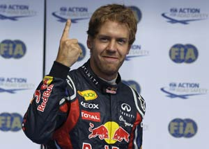 Vettel extends lead with a win at Belgium