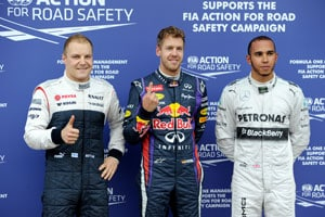 Canadian Grand Prix: Sebastian Vettel on pole, Lewis Hamilton second