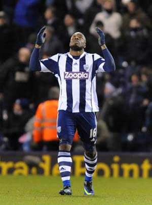 EPL: Victor Anichebe's last-gasp winner helps West Brom hold Chelsea F.C. to 1-1 draw