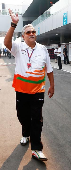 Vijay Mallya makes presence felt at Indian GP
