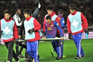 Barcelona striker David Villa faces long lay-off