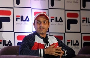 Virender Sehwag unveils ICC World T20 trophy in Indore