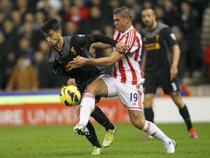 Walters double helps Stoke stun Liverpool