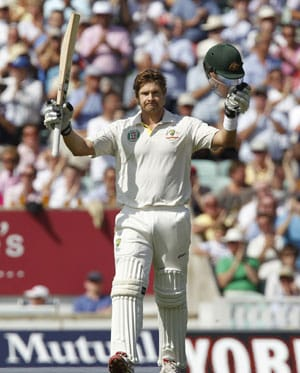 The Ashes: Shane Watson scores rare Test hundred in finale, first since 2010