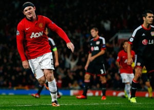 UEFA Champions League: Double-ton Wayne Rooney gives David Moyes winning start