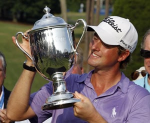 Simpson wins Wyndham for first PGA title