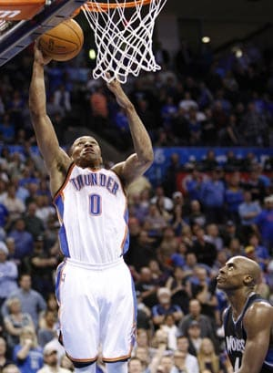 Thunder survive Love's 51, outlast Wolves in double overtime