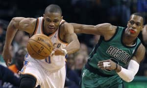 Westbrook leads Thunder past Celtics 97-88
