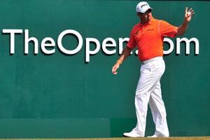 British Open: Lee Westwood leads after third round, Tiger Woods tied 2nd