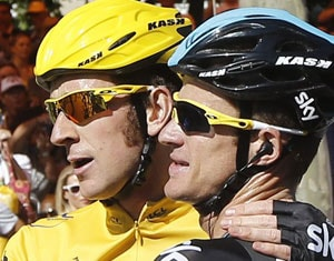 Bradley Wiggins 1st British cyclist to win Tour de France