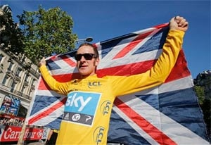 History-maker Bradley Wiggins wins Tour de France