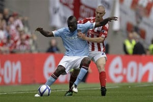 Stoke's Andy Wilkinson charged after Mario Balotelli clash