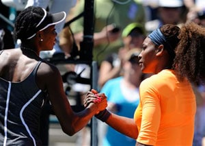 Serena routs sister Venus to reach Charleston WTA final