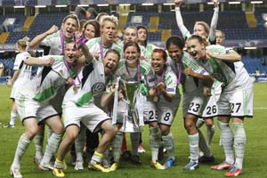 Women's Champions League: Wolfsburg stun holders Lyon to lift title