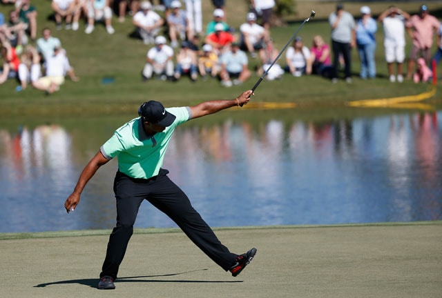 Tiger Woods roars into contention at World Golf Championships with six-under par 66