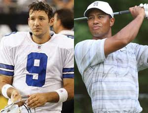 Woods to pair with NFL star Tony Romo: Report