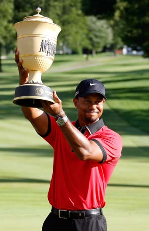 Tiger Woods wins eighth Bridgestone title