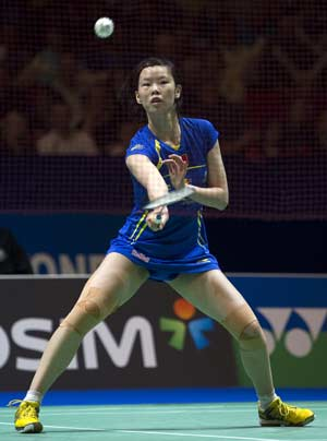 Li Xuerui stuns Wang Yihan to win All England Badminton