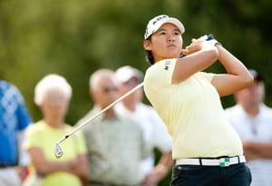 Tseng heads field at expectant Ochoa's event