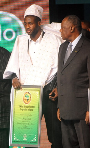 Yaya Toure named African Footballer of the Year for third straight time