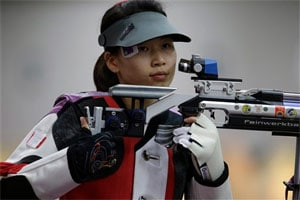 London 2012 Shooting: China wins first gold in women's 10m Air Rifle event