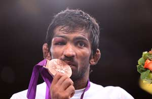 Yogeshwar Dutt wins Olympic Bronze in 60kg freestyle wrestling